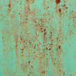 Royalty-Free Stock Photo: Painted rusted metal with crackling
