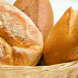 Bread in the basket — Stock Photo
