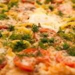 Deluxe Pizza Macro Pattern — Stock Photo