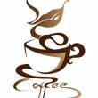 Coffee sign — Stock Vector