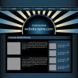Website design template editable vector — Stock Vector