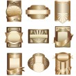 Stock Vector: Vector collection of luxury golden lab