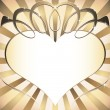 Vector de stock : Background with heart