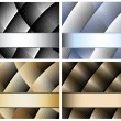 Abstract background and banner set — ストックベクタ
