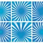 ensemble fond bleu sunburst — Vecteur