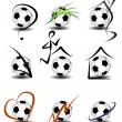 Stock Vector: Soccer football icon set