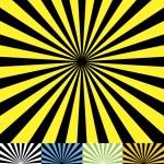 Funky retro background set cmyk — Stock Vector
