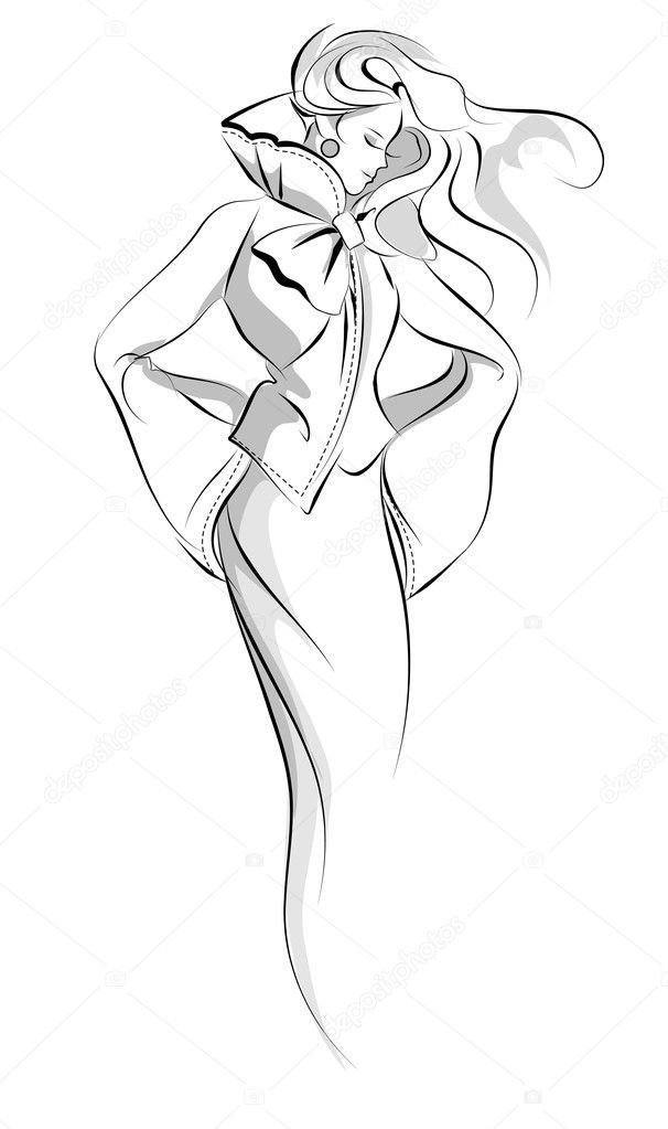 Handdrawn artistic fashion illustration  — Stock Vector #2480987