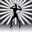 Disco queen silhouette - 