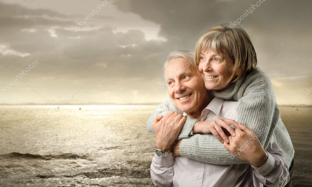 Senior couple and sunset — Stock Photo #2425308