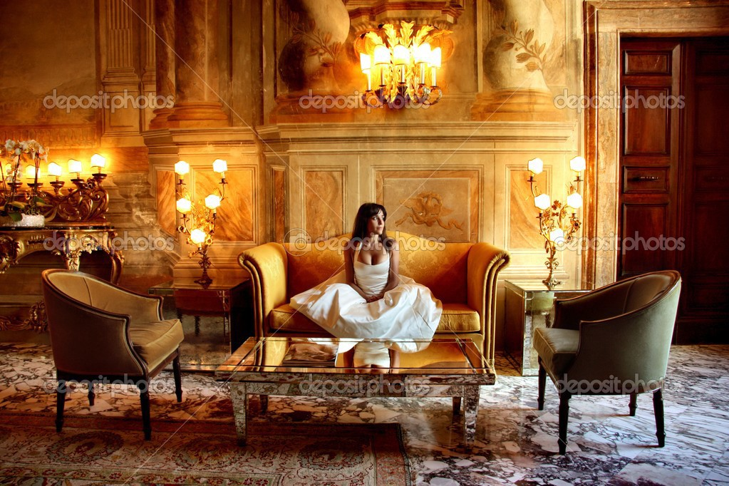 Woman in a luxury interior  Stock Photo #2492982