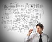 Create a graph — Stock Photo