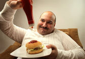 Fat man — Stock Photo