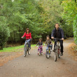 Happy family in bicycle — Stock Photo #2537824