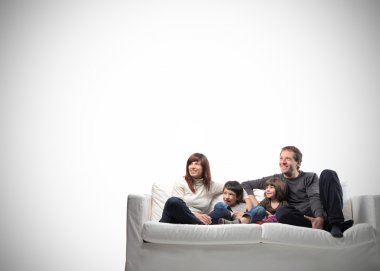 Family on couch