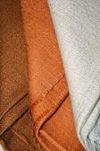 Brown pashmina shawls — Stock Photo