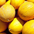 Stock Photo: Yellow honeydew melons