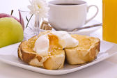 Fresh Poached Egg on Toast — Stock Photo