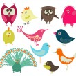 Cute birds — Vector de stock #2428521