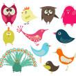 cute vogels — Stockvector