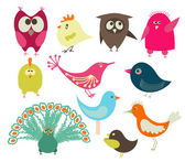 Cute birds — Vector de stock