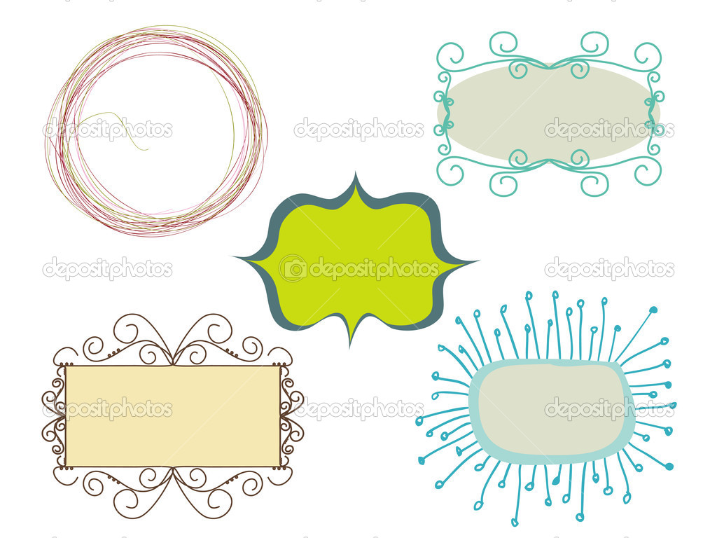 Set of doodle frames  — Stock Vector #2648752