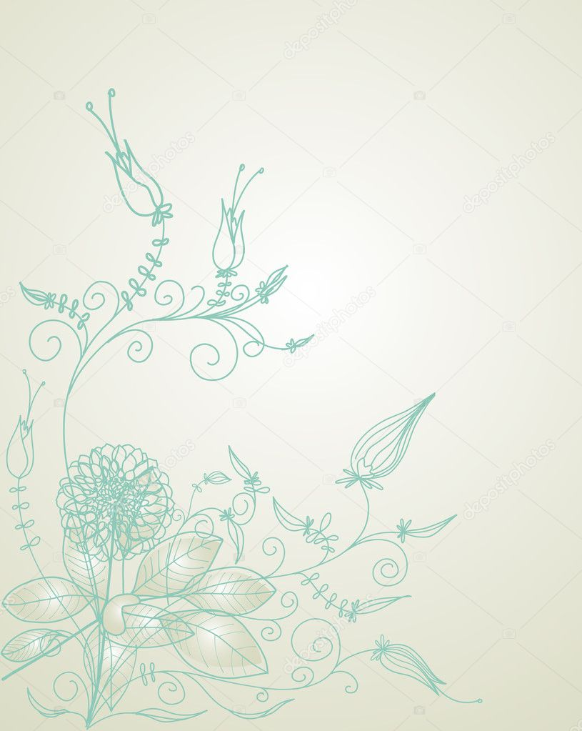 Floral background  in retro colors — Stock Vector #2648798