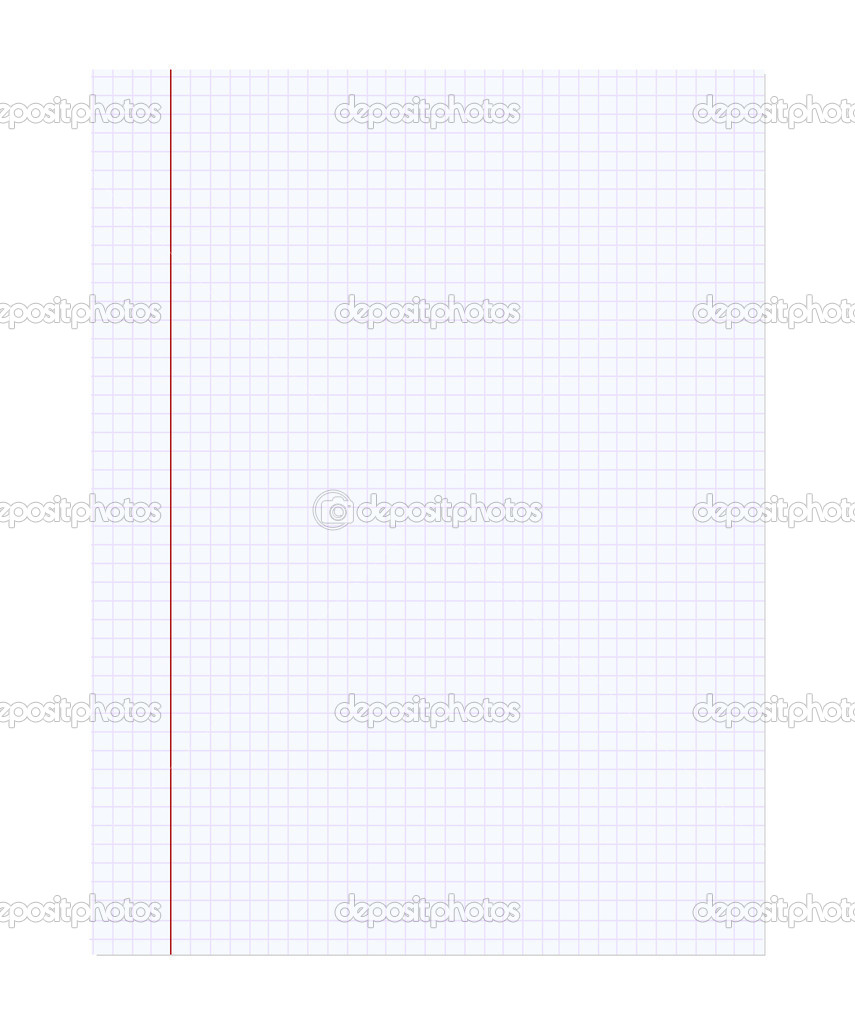 Blank sheet of notebook  — Stock Vector #2648816