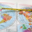Stock Photo: Map_ruler