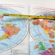 Map_ruler — Stock Photo