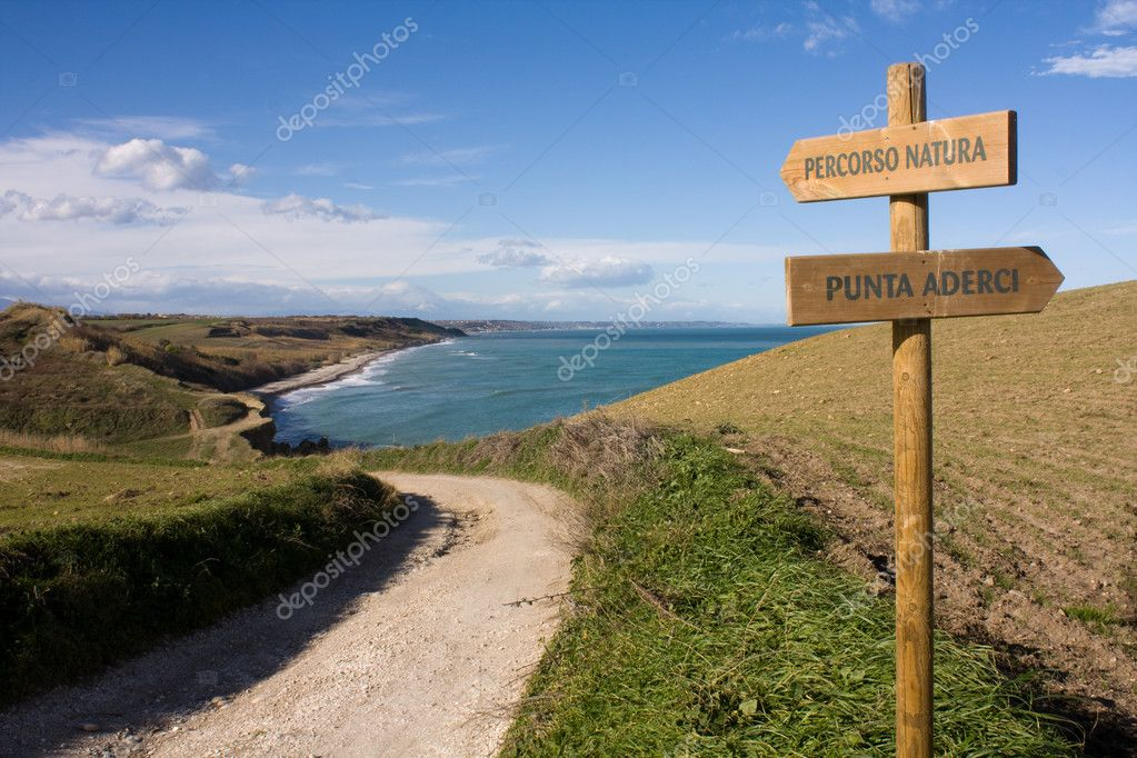 Directions in the nature and sea — Stock Photo #2432512