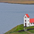 Iceland rural church — Foto Stock