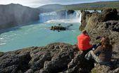 Island vattenfall — Stockfoto
