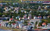 Ijsland stad — Stockfoto