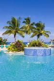 Hotel's swimming pool — Stock Photo