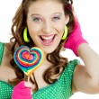 Stock Photo: Womwith lollypop