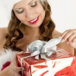 female santa claus — Stock Photo