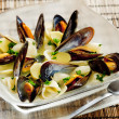 Stock Photo: Mussels soup