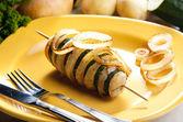 Zucchini and potato skewer — Stock Photo