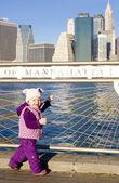 Girl at Manhattan — Stock Photo