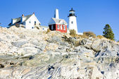 Lighthouse Pemaquid Point Light, Maine, USA — Stock fotografie