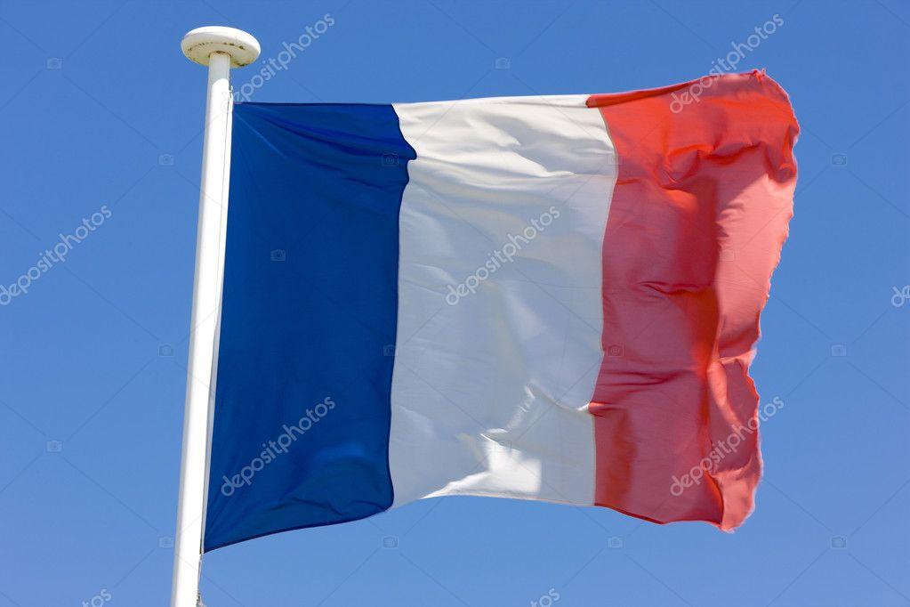 The France flag  Stock Photo #2640047