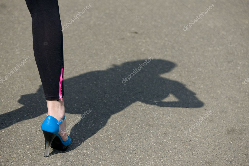 Detail of woman wearing summer shoe  Stock Photo #2640083