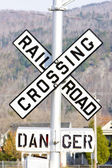 Railroad crossing — 图库照片