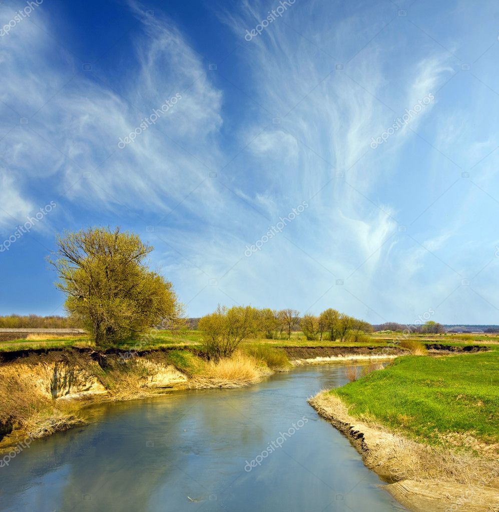 River landscape an nice day — Stock Photo #2445055