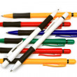 Stock Photo: Many ball pint pens