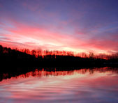 Nice sunset on the river — Stock Photo