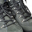 Stock Photo: Lacing view on trekking boots