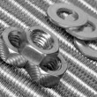 Stock Photo: Skrews, bolts and washers