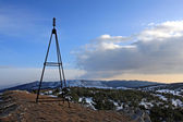 Mast on the top in the mountains — Stock Photo